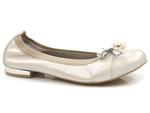 eleganckie baleriny Gamis 5057 - kolor: beż złocony