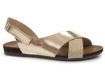 sandały Lemar 40141 - kolor: złoto +brokat