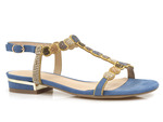 sandały Menbur 21576 - kolor: jeans