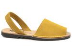 sandały gladiatorki Verano 201, 202 - kolor: mostaza -żółty welur