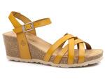 sandały koturny Yokono CADIZ 071 - kolor: mostaza