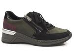 półbuty sneakersy Rieker N4332-00 - kolor: zielony