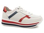 sneakersy skórzane Filippo DP2004 - kolor: biały