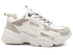 półbuty sportowe sneakersy Big Star HH274255/ HH274258 - kolor: biały/ fiolet