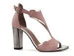 sandały Karino 2563 - kolor: róż welur
