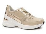 sneakersy skórzane Filippo DP2056/21 - kolor: beż złoty