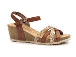 sandały koturny Yokono CADIZ 071 - kolor: nuez
