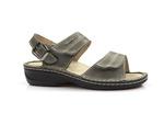 zdrowotne sandały OrtoMed 3728 - kolor: szary