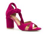 sandały Badura 4362 - kolor: fuksja welur
