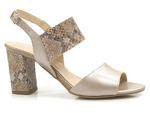 eleganckie sandały Gamis 3390 - kolor: beż metalic/wąż
