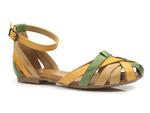 sandały gladiatorki Maciejka 01924 - kolor: zielony