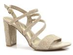 komfortowe sandały Marco Tozzi 28389 - kolor: dune metalic