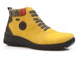 botki trzewiki Rieker L7174-68 Tex - kolor: żółty