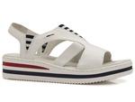 sandały na platformie Rieker V02Y5-80 - kolor: biały