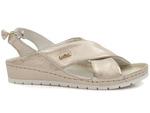 sandały typu soft Lemar 50056 - kolor: przecierane złoto