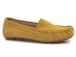 półbuty mokasyny Lemar 10058 - kolor: żółty