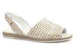 sandały espadryle Lemar 40062 - kolor: matrix beż