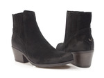 kowbojki botki damskie Gamis 3804 - kolor: czarny welur