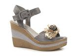espadryle sandały Nessi 18346 - kolor: szary