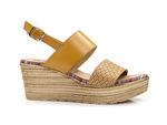 sandały na koturnie EL PIMPI  75712 - kolor: camel
