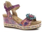 komfortowe sandały Laura Vita Facyo - kolor: fiolet