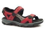 sandały sportowe Rieker 68872 - kolor: czerwony